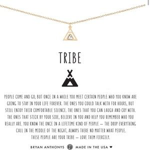 Bryan Anthony Gold Tribe Teepee Necklace with Box